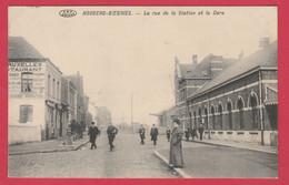 Houdeng-Goegnies - La Rue De La Station Et La Gare ... Belle Animation - 1912 ( Voir Verso ) - La Louviere