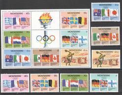 TT444 MONTSERRAT OLYMPIC GAMES 1980 MOSCOW HISTORY MICHEL #424-30 BL33 10.3 EU 1SET+1KB MNH - Sommer 1980: Moskau