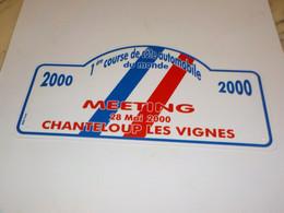 PLAQUE 1ER COURSE DE COTE DU MONDE CHANTELOUP LES VIGNES 2000 - Collections