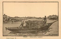 NIGER  Pirogue Indigene  42  (scan Recto-verso)MA2007Ter - Níger