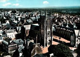 CPSM - CARHAIX - Eglise St Trémeur ... En Avion Au Dessus De - Edition Lapie - Carhaix-Plouguer