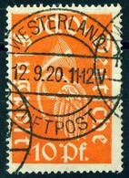 """Deutsches Reich 1920 Michel-# 111 """" + RR Zentrischer Voll-o WESTERLAND LUFPOST = Sylt Neuer Flugplatz """" Michel Nb € - Aéreo"""