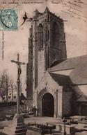 CPA - CARHAIX - Eglise De PLOUGUER ...(cimetière) - Edition Villard & ND - Lot De 2 Cartes A Saisir - Carhaix-Plouguer
