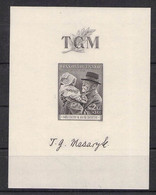 CZECHOSLOVAKIA - MINISHEET 1938 MASARYK Mi #BLOCK 3 MNH /LIB13 - Blocchi & Foglietti