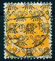 """D Bizone 1948 Michel-# 45 II """" Netzaufdruck Währungsreform Einzelwert 25 Pf Orange O """" Michel ~17 € - American/British Zone"""