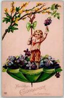53142503 - Kind Regenschirm Blumen - Birthday