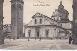 TORINO-CHIESA DI SAN GIOVANNI BATTISTA-CARTOLINA VIAGGIATA IL 6-9-1909 - Churches