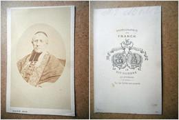 PHOTO CDV 19 EME MGR MORLOZ HOMME D EGLISE RELIGIEUX Cabinet FRANCK  A PARIS - Old (before 1900)
