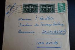 LETTE POUR MADAGASCAR 1949 - Cartas