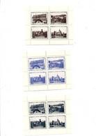 3 BLOCS DE VIGNETTES EXPO PHIL MULHOUSE 1934 - Expositions Philatéliques