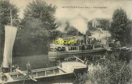 44 Monnières, Port Domino, N° 2, Gabare Au 1er Plan, Vapeur D'excursion En Arrière, Carte Pas Courante - Altri Comuni