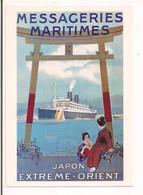 Messageries Maritimes :  Japon Extrême Orient - Illustrateur Sandy Hook Vers 1920 - - Paquebots