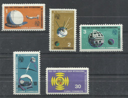 CUBA  YVERT  849/53  MNH  ** - Unused Stamps