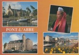 29 PONT L'ABBE Eglise N.-D. Des Carmes, Jeune Fille En Costume Bigouden (coiffe Ancienne), Château, Rivière ... - Pont L'Abbe