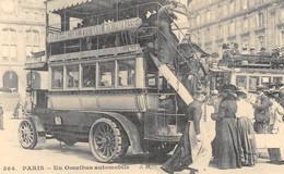 Paris - Un Omnibus Automobile Gare Des Batignolles/Gare Montparnasse - Cecodi N'P27 - Konvolute, Lots, Sammlungen