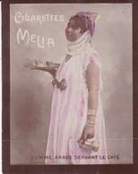 Chromo : Cigarettes : MELIA - Alger : Femme Arabe Servant Le Café : Colorisée : 6,5cm X 5cm - Melia