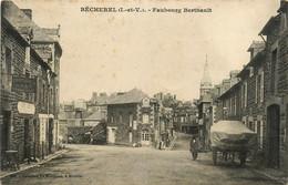 Bécherel * Rue Et Faubourg Berthault * Quartier * Hôtel De La Gare AUBRY * Hôtel Du Commerce - Bécherel