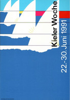 ! Kieler Woche 1991, Bundesrepublik Privatganzsache, PP, 60 Pfg. Sehenswürdigkeiten Bavaria München - Privatpostkarten - Ungebraucht