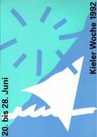 ! Kieler Woche 1992, Bundesrepublik Privatganzsache, PP, 60 Pfg. Sehenswürdigkeiten Bavaria München - Privatpostkarten - Ungebraucht
