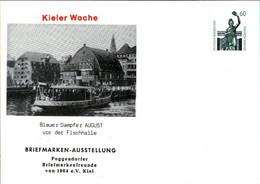 ! Kieler Woche , Dampfer, Bundesrepublik Privatganzsache, PP, 60 Pfg. Sehenswürdigkeiten Bavaria München - Privatpostkarten - Ungebraucht