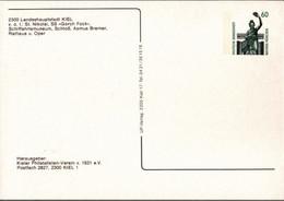 ! 1992 Kiel 750 Jahrfeier, Bundesrepublik Privatganzsache, PP, 60 Pfg. Sehenswürdigkeiten Bavaria München - Privatpostkarten - Ungebraucht