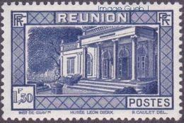 Réunion N° 142 ** Vue -> Musée Léon Dierx à Saint Denis Le 1fr50 Outremer - Unused Stamps