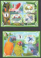 PA109 IMPERF 2019 PARROTS BIRDS FAUNA BL+KB MNH - Parrots