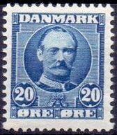 DENEMARKEN 1907-12 20öre Ultramarijn Frederik VIII PF-MNH-NEUF - Unused Stamps