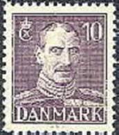 DENEMARKEN 1942-47 10õre Lichtviolet Christian X PF-MNH-NEUF - Nuevos