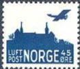 NOORWEGEN 1937 45õre Luchtpost Met WM   PF-MNH-NEUF - Unused Stamps