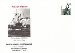 ! Kieler Woche, Tonnenleger, Schiff, Ship, Bundesrepublik Privatganzsache, PP, 60 Pfg. Sehenswürdigkeiten - Privatpostkarten - Ungebraucht
