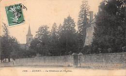 AUNAY - Le Château Et L'Eglise - Très Bon état - Otros Municipios