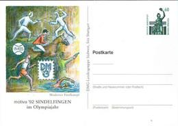 ! 1992 Sindelfingen, Fünfkampf, Sport, Bundesrepublik Privatganzsache, PP, 60 Pfg. Sehenswürdigkeiten Bavaria München - Privatpostkarten - Ungebraucht