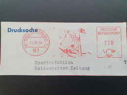 Freistempel Garmisch Partenkirchen 11-12-1964. Ski - Sci