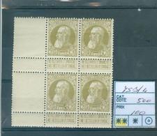 75 Xx Bloc De 4 Côte 500€ - 1905 Grosse Barbe