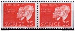 ZWEDEN 1967 35öre Nobel 1907 Paar PF-MNH - Ungebraucht