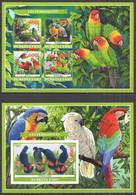 PA061 IMPERF 2019 PARROTS BIRDS FAUNA BL+KB MNH - Parrots