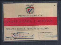 Benfica. Soccer. Old Sport Lisboa E Benfica Card. Champion. Fußball.  Football. Calcio. Voetbal. Peil. Jalkapallo - Sports