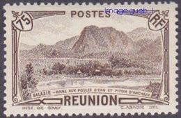 Réunion N° 138 ** Vue - Salazie, Mare Aux Poules D'eau Et Piton D'Auchain - 75c Sépia - Unused Stamps