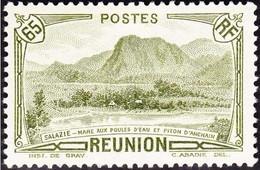 Réunion N° 137 ** Vue - Salazie, Mare Aux Poules D'eau Et Piton D'Auchain - 65c Olive - Unused Stamps