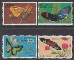 1997 Eritrea Butterflies Papillons Complete Set Of 4 Stamps MNH - Eritrea