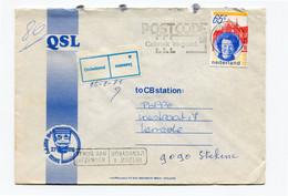 1981 Enveloppe Van Stekene Gepost In Hulst Nl Naar Kemzeke - Retour - Sticker Onbekend - Stempel MOERZEKE C 1 C  25.2.81 - Cartas