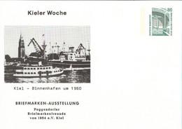 !  Kieler Woche, Binnenhafen, Privatganzsache, PP, 80 Pfg. Sehenswürdigkeiten Zeche Zollern Dortmund - Privatpostkarten - Ungebraucht