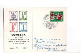 900JAHRE UNIVERSITAT FREIBURG 1957 SUWEBRA 60 Jahre Freiburger Briefmaken Sammler Verain 1898 (Tampon) - Sin Clasificación