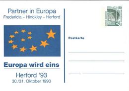 !  1993 Herford, Europa, Privatganzsache, PP, 80 Pfg. Sehenswürdigkeiten Zeche Zollern Dortmund - Privatpostkarten - Ungebraucht