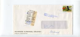 Venster Enveloppe Van HELMONDSE GLASHANDEL CEELEN BV Helmond - PTT Sticker Retour Onbekend + Blauwe Stempel Terug .... - Briefe U. Dokumente