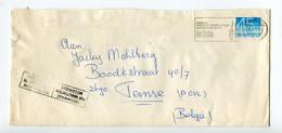 1977 Enveloppe Van Rotterdam Naar Temse B - Stempel Mechanisch Beschadigd - Geplakt Met Speciale Strook Regie De Post + - Briefe U. Dokumente