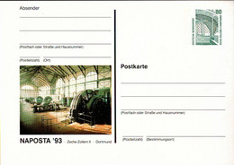 !  1993 Naposta Dortmund , Briefmarkenausstellung, Philatelie, Privatganzsache, PP, 80 Pfg. Sehenswürdigkeiten - Privatpostkarten - Ungebraucht