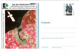 !  1997 Tag Der Briefmarke Rostock, 40 Jahre Weltraumforschung, M-V, Privatganzsache, PP, 100 Pfg. Sehenswürdigkeiten - Privatpostkarten - Ungebraucht