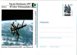 !  1997 Tag Der Briefmarke Meldorf, 40 Jahre Weltraumfahrt, MIR, Privatganzsache, PP, 100 Pfg. Sehenswürdigkeiten - Privatpostkarten - Ungebraucht